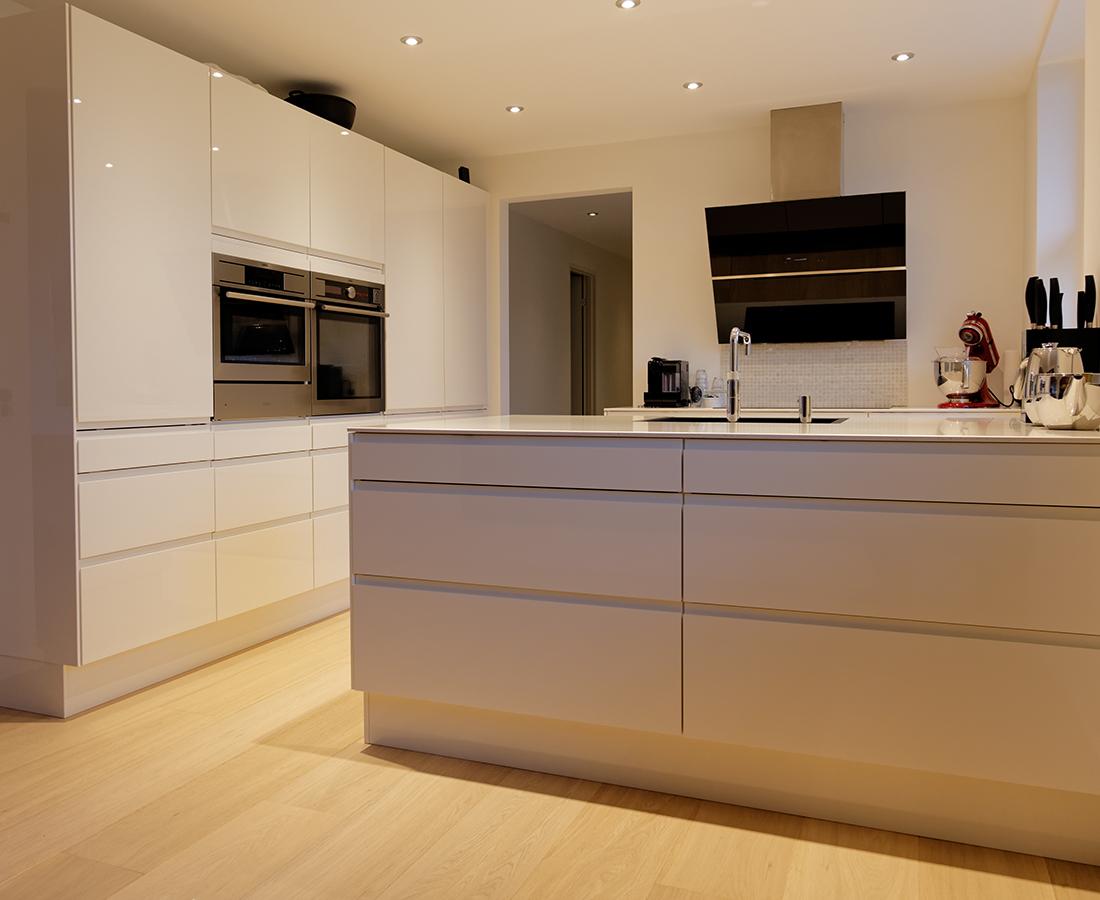 Køkken udført af Benjamin Tømrer i Århus